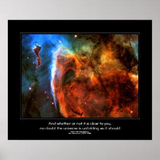 Desiderata quote - Keyhole Nebula space image Poster