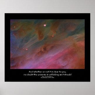 Desiderata quote - Pillars of Dust Orion Nebula Print