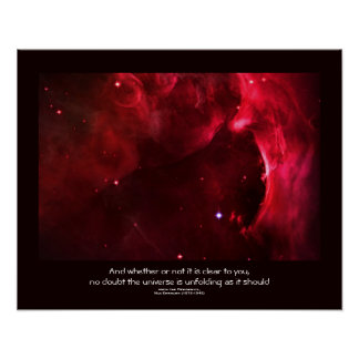 Desiderata quote - Sculpted Region of Orion Nebula Posters