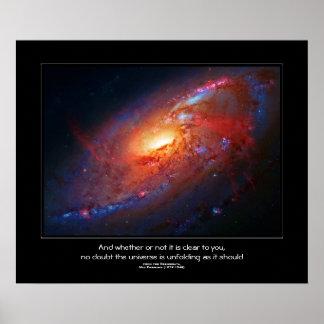 Desiderata quote - Spiral Galaxy Canes Venatici Posters