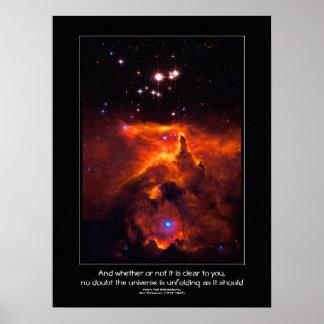 Desiderata quote - Star Cluster Pismis 24 Print