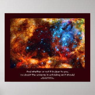 Desiderata quote - Stars of the Tarantula Nebula Poster