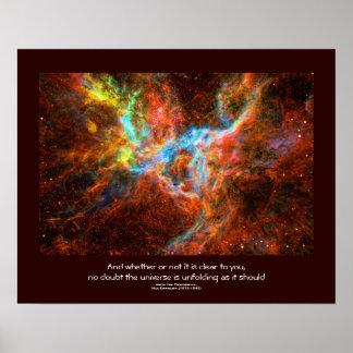 Desiderata quote - Tarantula Nebula star formation Poster
