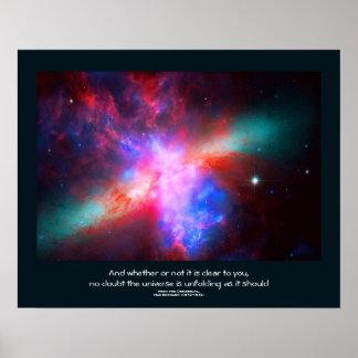 Desiderata quote - The Active Cigar Galaxy Print