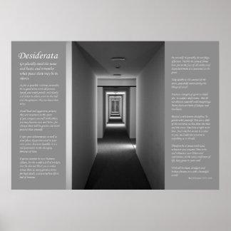 Desiderata - Receding Corridor Poster