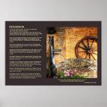 Desiderata - Rustic Pump, Well and Cartwheel scene Poster