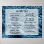 Desiderata - Shifting Sands Poster