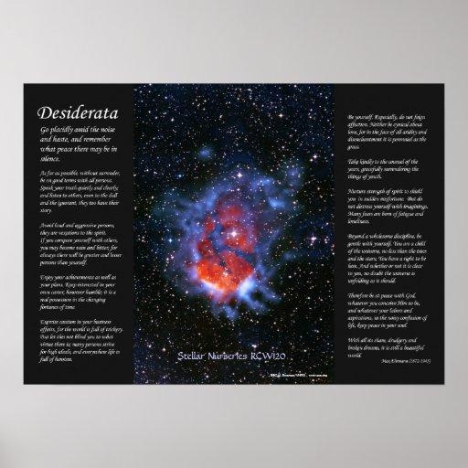 Desiderata - Stellar Nurseries RCW120 Poster