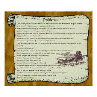 Desiderata ~ Timeless Inspiration Poster