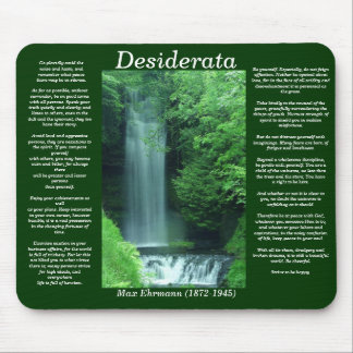 DESIDERATA Water Fall Mousepad