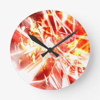 DESIGN9 SET3 orange Round Clock