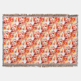 DESIGN9 SET3 orange Throw Blanket
