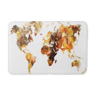 Design 102 world map bath mat