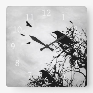 Design 43 Crow Bird Clocks