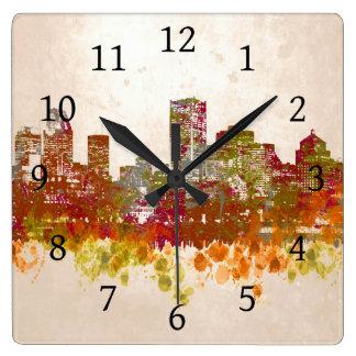 Design 46 Cityscape Square Wall Clock
