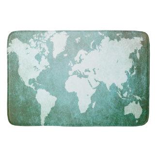 Design 55 world map bath mat