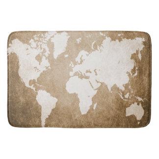 Design 56 world map bath mat