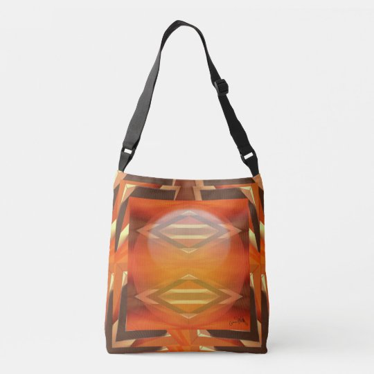 Design 82 Orange and Yellow Crossbody Bag