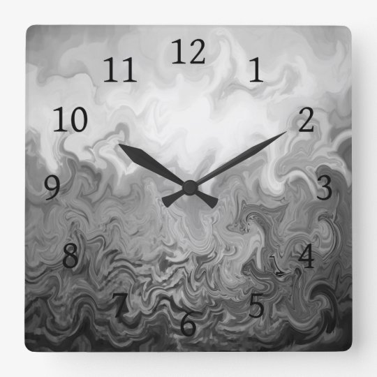 Design 83 grey abstract square wall clock
