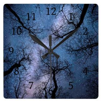 Design 85 blue sky square wall clock
