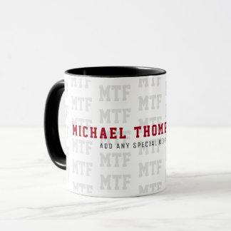 design a monogrammed, name/initials, special mug