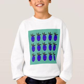 Design ananases Blue Sweatshirt