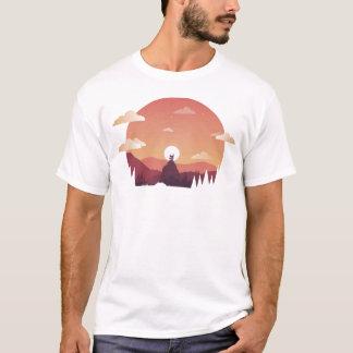Design art hill hut landscape T-Shirt