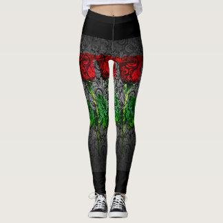 Design art rose love fashion leggings