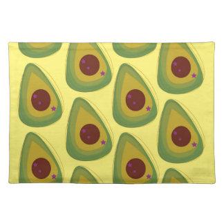 Design avocados gold pieces placemat