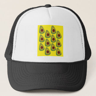 Design avocados gold pieces trucker hat