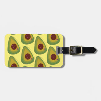 Design avocados on gold luggage tag