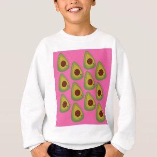 Design avocados on pink sweatshirt