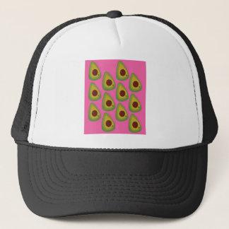 Design avocados on pink trucker hat