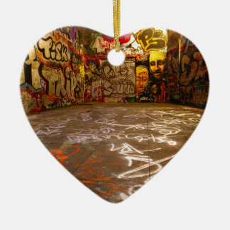 Design Background illustration Ceramic Heart Ornament