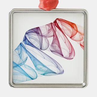 Design Background illustration Silver-Colored Square Ornament