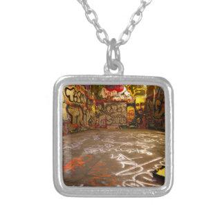 Design Background illustration Silver Plated Necklace