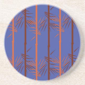 Design bamboo blue coaster