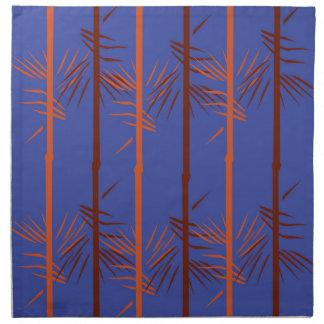Design bamboo blue napkin