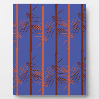 Design bamboo blue plaque