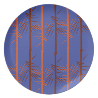 Design bamboo blue plate