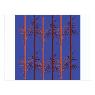 Design bamboo blue postcard