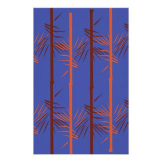 Design bamboo blue stationery