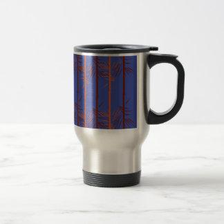 Design bamboo blue travel mug