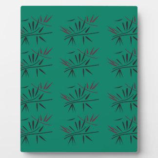 Design bamboo Eco elements Plaque