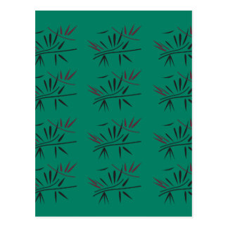 Design bamboo Eco elements Postcard