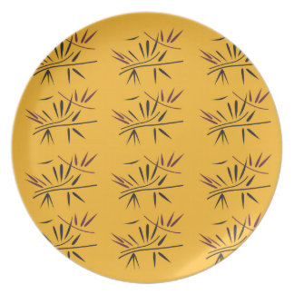 Design bamboo Gold Eco Plate