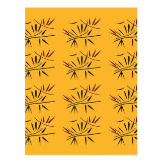 Design bamboo Gold Eco Postcard
