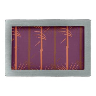 Design bamboo wine edition ethno rectangular belt buckle