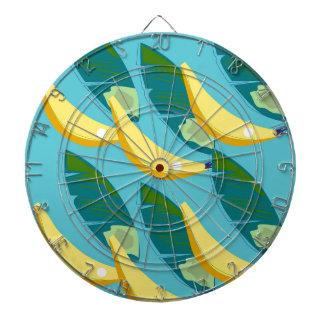 Design bananas on blue dartboard