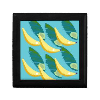 Design bananas on blue gift box